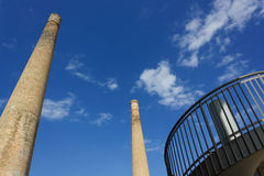 Two Old Chimneys Stock Photography