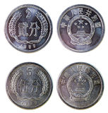 Two old chinese coins Stock Images