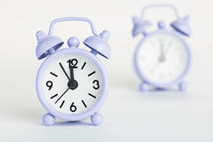 Two old clocks Stock Photo