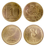 Two old coins of israel Royalty Free Stock Photos