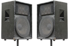 Two old concerto audio speakers stock images