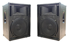 Free Two Old Concerto Audio Speakers Stock Images - 9818664
