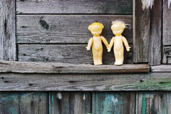Two old dolls Stock Photo
