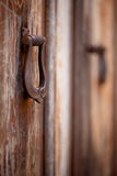 Two old door knockers, close-up Stock Photography