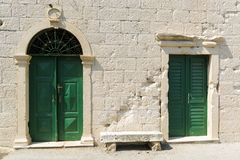 Two old doors Royalty Free Stock Photography