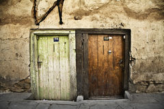 Two old doors Stock Photo