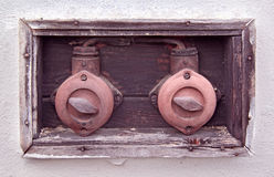 Two old electric breakers Stock Image