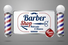 Two old fashioned vintage silver and glass barber Stock Images