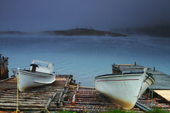 Two old fishing boat Stock Image