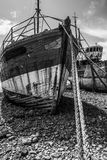 Two old fishing boats Stock Photo