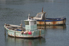 Two old fishing boats in Royalty Free Stock Images