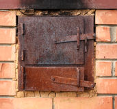 Two old furnace doors Stock Images