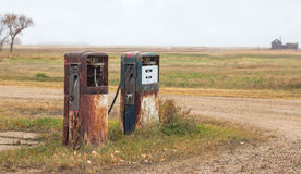 Two old gas pumps Stock Image