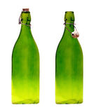 Two old glass bottles with a lid Stock Images