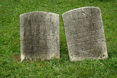 Two Old Gravestone Stock Photo