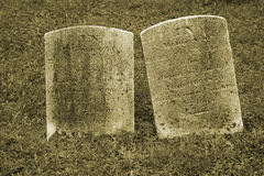 Free Two Old Gravestone Stock Photography - 3237902