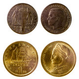 Two old greek coins Royalty Free Stock Photos