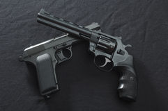 Two old  guns Royalty Free Stock Photo