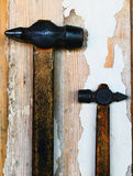 Two old hammer Royalty Free Stock Photo