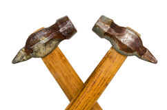 Two old hammer. Isolated on white background Royalty Free Stock Image