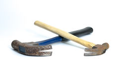 Two old hammers  Stock Images