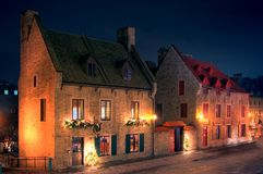 Two old houses stock image