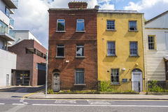 Two old houses in city center of Dublin, Ireland Royalty Free Stock Image