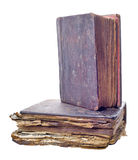 Two old isolated books Royalty Free Stock Photo