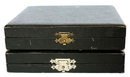 Two old jewelry boxes Royalty Free Stock Photography