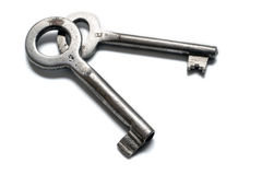 Two old keys Stock Photos