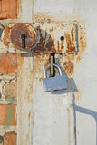 Two old locks Royalty Free Stock Photo