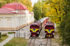 Two old locomotive Stock Photography