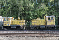 Two old locomotives Stock Photos