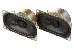 Two old loud speakers Royalty Free Stock Photo