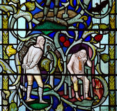 Two old man in stained glass Stock Photo