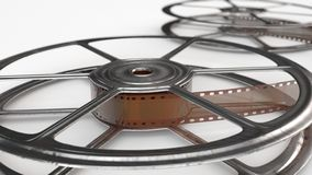 Two old movie reels Royalty Free Stock Photos