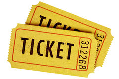 Two old movie tickets Stock Photos