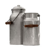 Two old nostalgic milk can Royalty Free Stock Photography