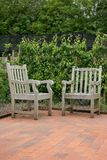 Two Old Oak Chairs Stock Image