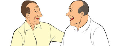 Two old pals Royalty Free Stock Photography