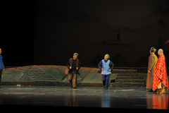 The two old people- Jiangxi opera a steelyard. Jiangxi opera a steelyard is adapted from a true story: the last century fortys, the protagonists father runs an stock images