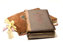 Two old photo albums Royalty Free Stock Photos