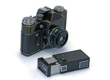 Two old photo cameras Royalty Free Stock Photography