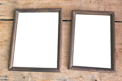 Two old photo frames Stock Image