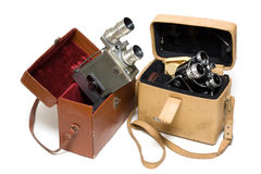 Two old photoes of the camera Stock Photo