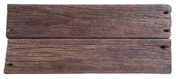 Two old planks of driftwood Stock Image