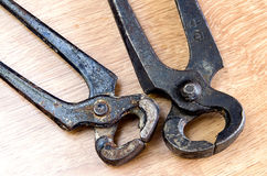Two old pliers Stock Images
