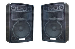 Two old powerfull concerto audio speakers Stock Photography
