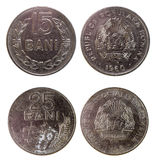Two old rare romanian coins Stock Photography