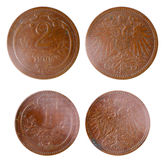 Two old rare russian coins Stock Images